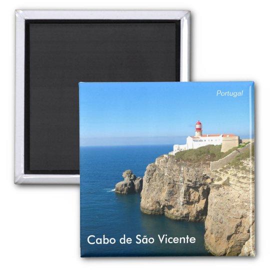 Cabo de São Vicente / Cape St. Vincent Quadratischer Magnet