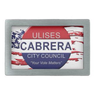 Cabrera für Stadtrat Rechteckige Gürtelschnalle