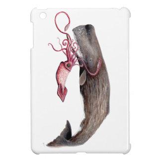 Cachalote und Tintenfisch iPad Mini Hülle