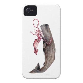 Cachalote und Tintenfisch iPhone 4 Hülle