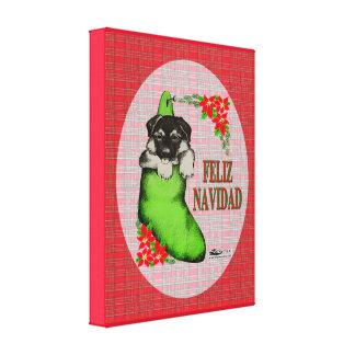 Cachorrito Feliz Navidad Leinwanddruck