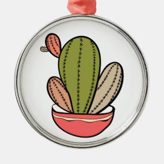 Cactus Vektor illustration. Hand drawn. Cactus pla Silbernes Ornament