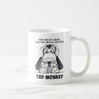 Cad-Affe hören keine schlechte Kaffee-Tasse Kaffeetasse