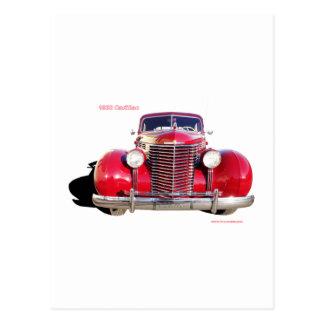 "Cadillac 1938 ""Rot "" Postkarte"