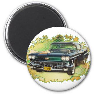 CADILLAC 1958 #2 RUNDER MAGNET 5,7 CM