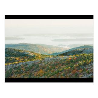 Cadillac-Berg im Fall, Acadia-Nationalpark Postkarte