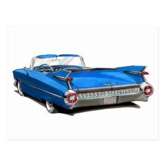 Cadillac-Blau-Auto 1959 Postkarte
