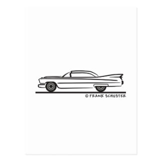 Cadillac-Coupé 1959 Postkarte