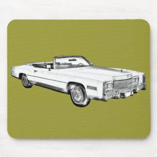 Cadillac-Eldorado-Kabriolett-Illustration 1975 Mousepads