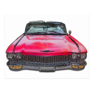 Cadillac-Kabriolett 1960 Postkarte