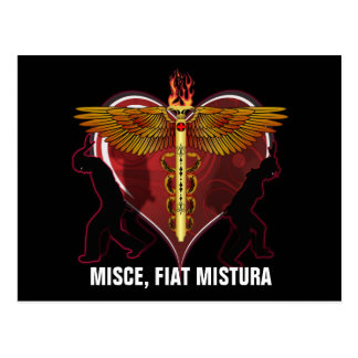 Caduceus-Herz V-1, MISCE, FIAT MISTURA Postkarte