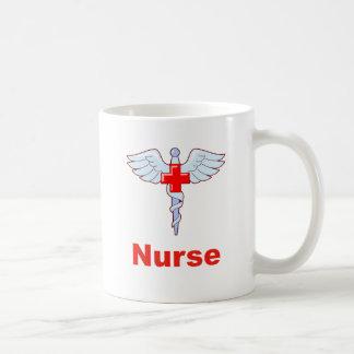 Caduceus-Krankenschwester Kaffeetasse