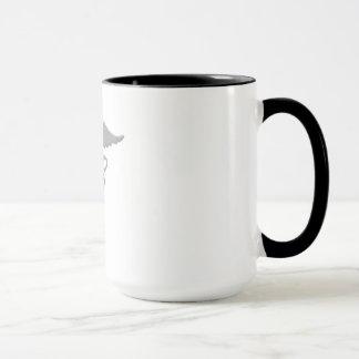 Caduceus-medizinische Symbol-Tasse (grau) Tasse