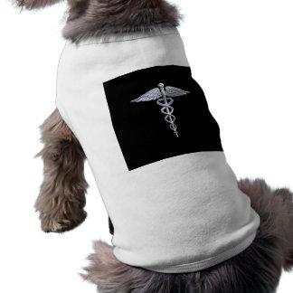 Caduceus-medizinisches Symbol auf Schwarzem Shirt
