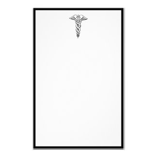 Caduceus-medizinisches Symbol Briefpapier