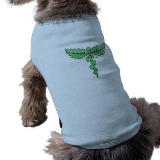 Caduceus mit Blätterhintergrund Shirt