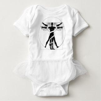 Caduceus Vitruvian Mann Baby Strampler