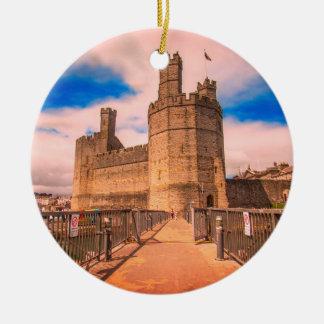 Caernarfon Schloss Wales Keramik Ornament
