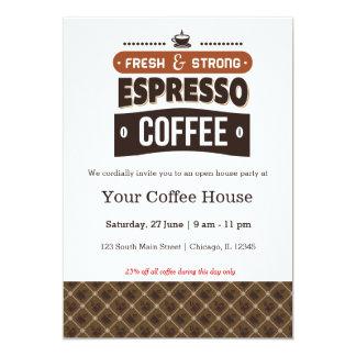 Café 12,7 X 17,8 Cm Einladungskarte