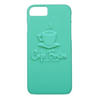 Café Boston Kasten Türkis-6/6s iPhone 8/7 Hülle
