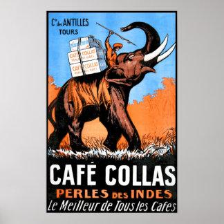 Café Collas Vintages Plakat