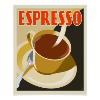 Café-DekoEspresso Poster