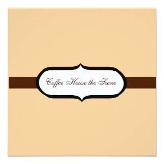 Café Quadratische 13,3 Cm Einladungskarte