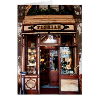 Café Florian Venedig Grußkarte