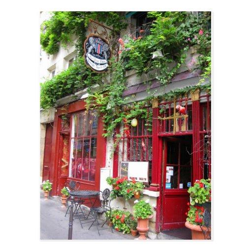 Café in Paris Postkarte