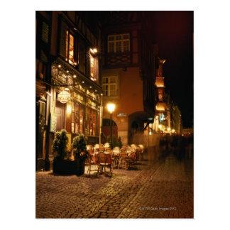 Café in Straßburg Postkarte