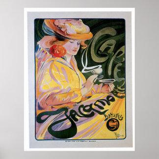 Café Jacamo Vintage Kaffee-Getränk-Anzeigen-Kunst Posterdrucke