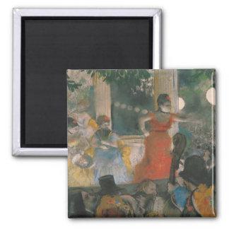 Café-Konzert Edgar Degass | bei Les Ambassadeurs Quadratischer Magnet