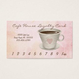 Café-Loyalitäts-Lochkarte Visitenkarte
