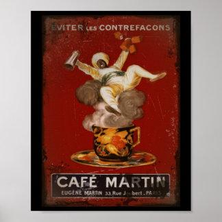 Café-Martin-Geister Poster