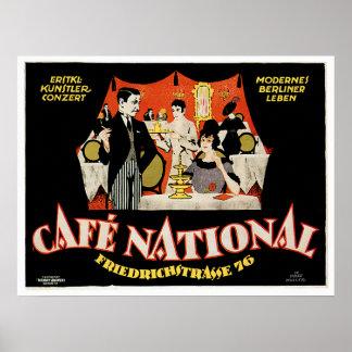 Café-nationale Vintage Café-Getränk-Anzeigen-Kunst Poster
