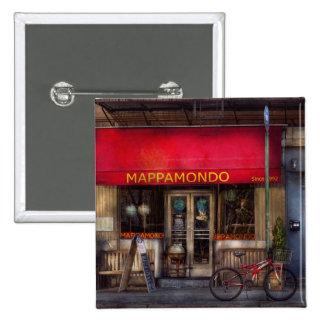 Café - NY - Chelsea - Mappamondo Anstecknadelbuttons