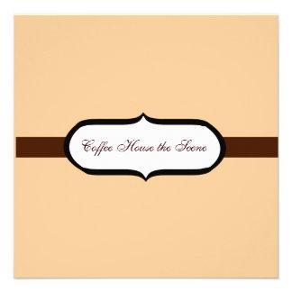 Café Personalisierte Einladung