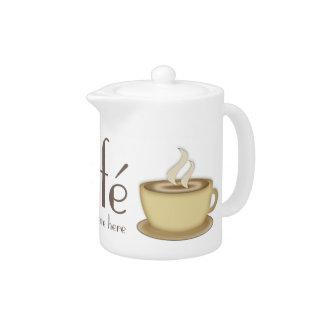 Café personalisierte Teekanne