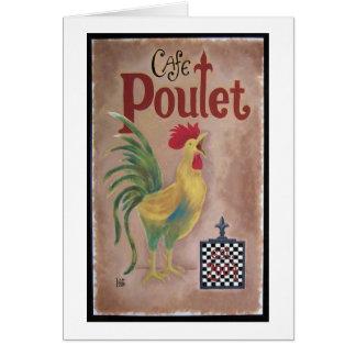 Café Poulet Karte