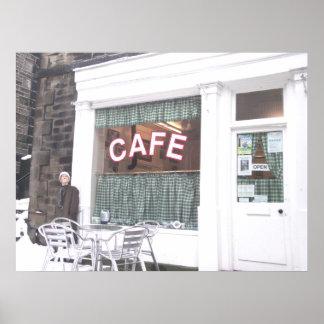 Café SID Leinwand-Druck Poster