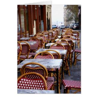 Café-Stühle Karte