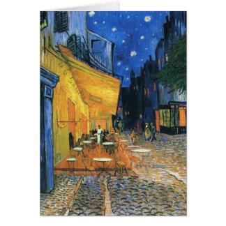 Café-Terrasse an Nachtvan- goghkarte Karte