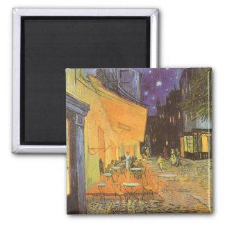 Café-Terrasse-Nacht, Vintager Impressionismus Van  Kühlschrankmagnet