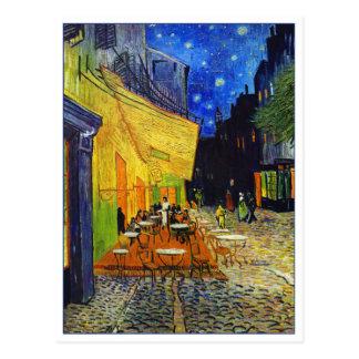 Café-Terrasse nachts durch Van Gogh Postkarte