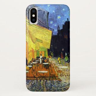 Café Terrasse nachts durch Van- Goghschöne Kunst iPhone X Hülle
