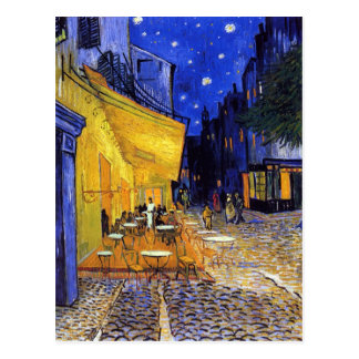 Café-Terrasse nachts durch Vincent van Gogh Postkarte