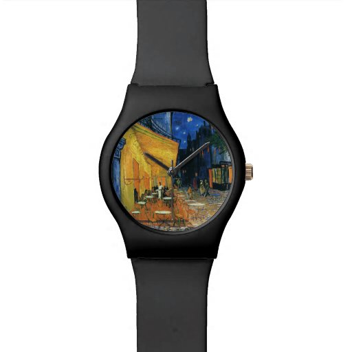 Café Terrasse nachts Armbanduhr