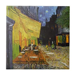 Café-Terrasse nachts Van Gogh Fliese