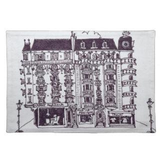 Café u. Speicher auf Ruede Paris | altem Nizza, Tischset