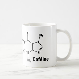 Caféine molécule café Tasse